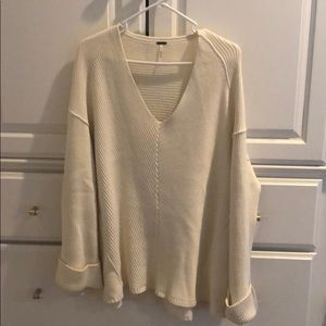 Free People cotton ribbed sweater